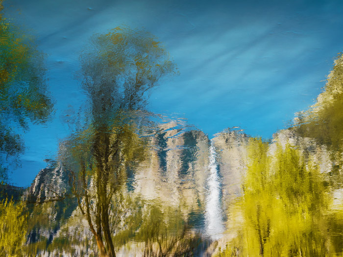 Using water for reflections is a great way to add interest for landscape abstract photography