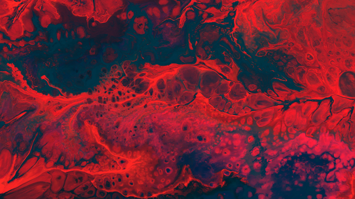 Oily red and black abstract photo