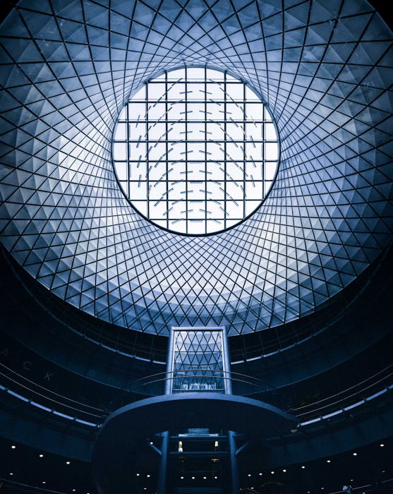 Symmetry is a great composition to show a structure in a powerful light