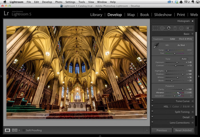 Using Lightroom effectively can help to create very dramatic architecture photography
