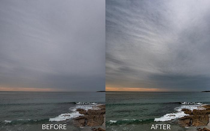 dehaze filter before after