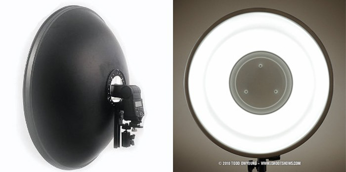 A DIY Photography lighting beauty dish diptych