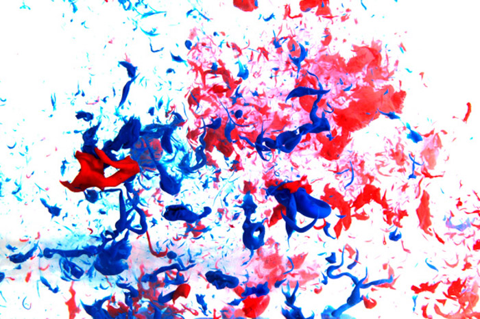 A simple paint splatter in water can create interesting fine art photography