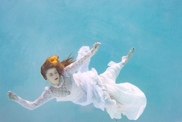 Photographing models underwater adds that dream-like state often found in fine art photography