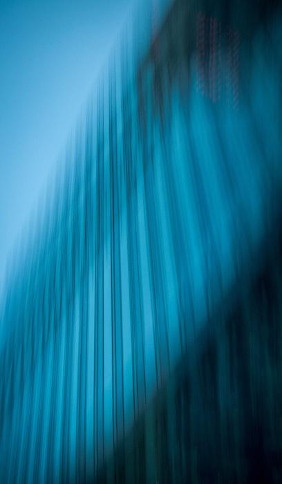 Fotografia arquitetônica abstrata borrada