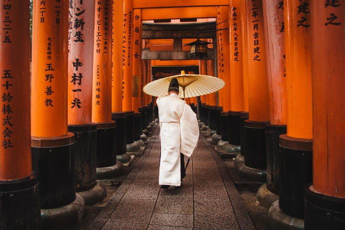 A traditional photo of Japan