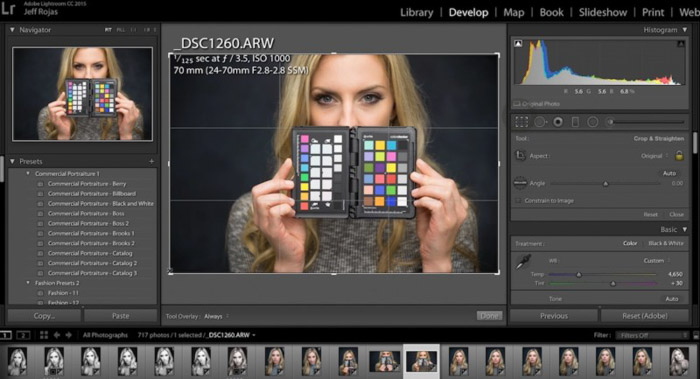 A colour checker is used to make sure the colours are as natural as possible in your product photography