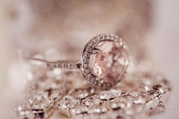 Product shot of a beautiful diamond ring