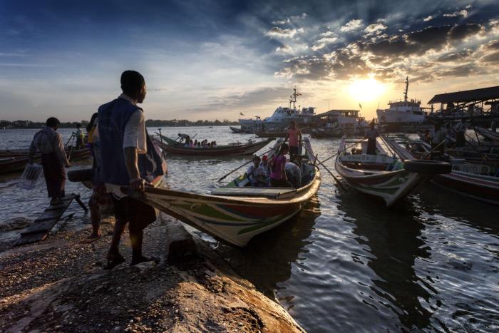 Imagens de fotografia de viagem de pescadores da Índia.