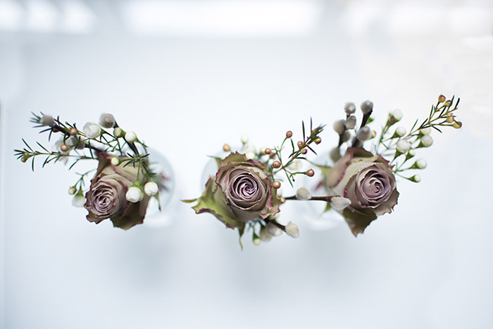 Capturing details such as flower arrangments is a great addition to photographs of people in wedding photography