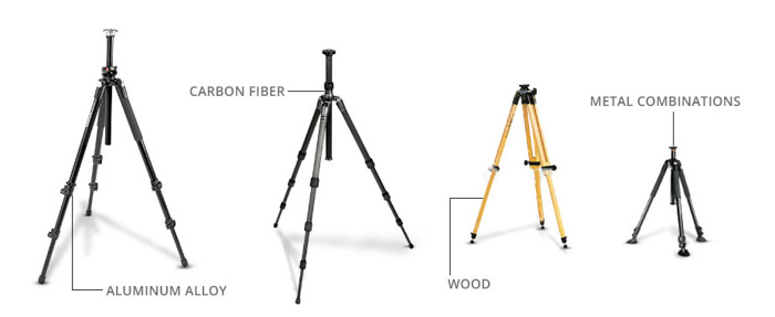 A great range of tripod choices for wedding photography