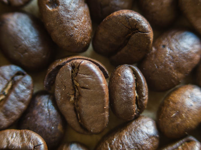 Closeup shot of coffee beans