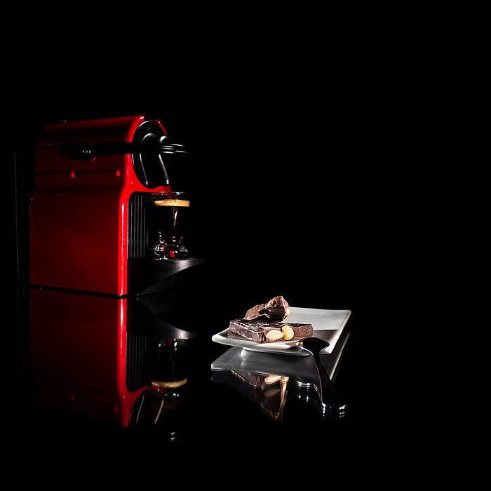 creative commercial style coffee machine photo