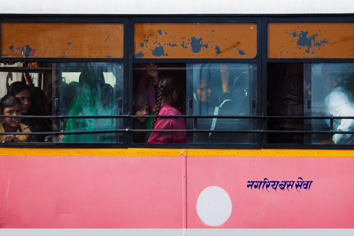 people in public transportation