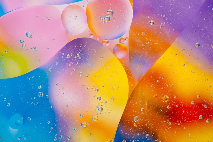 colorful abstract macro photo