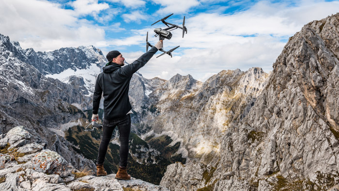 Drones offer a unique perspective for your adventure photography