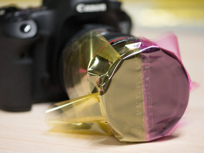Coloured plastic is a great DIY photography filter