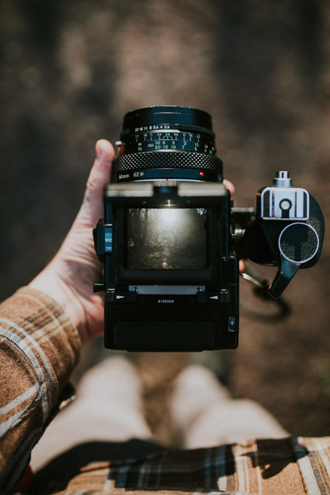 A medium format camera offers a very large negative size compared to 35mm film photography