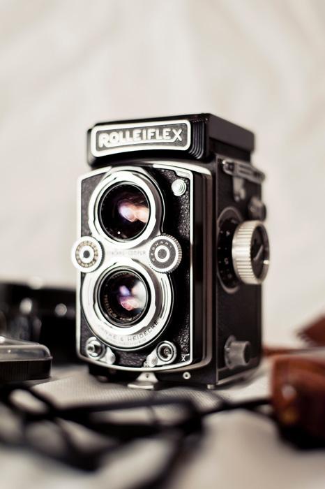 câmera de filme rolleiflex
