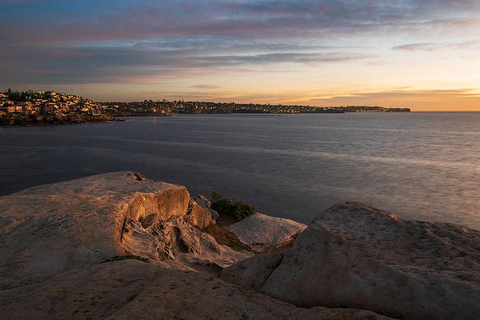 Coastal seascape at evening