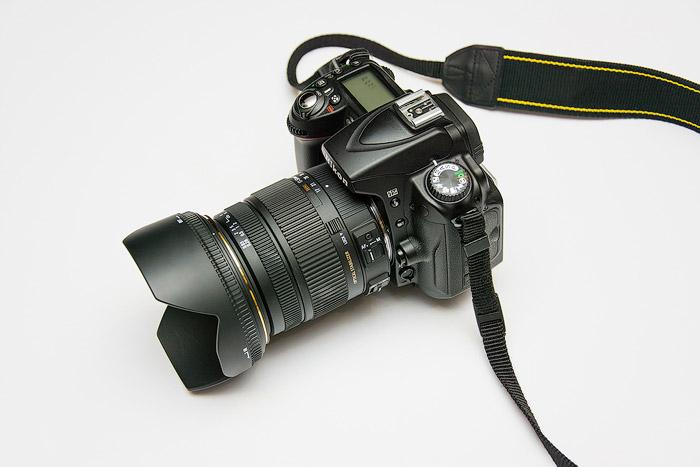 Nikon camera with wide angle lens