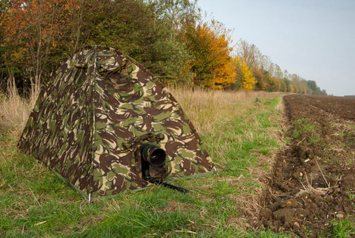 A wildlife photography hide