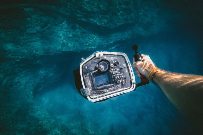 An underwater casing is a necessity for underwater photography