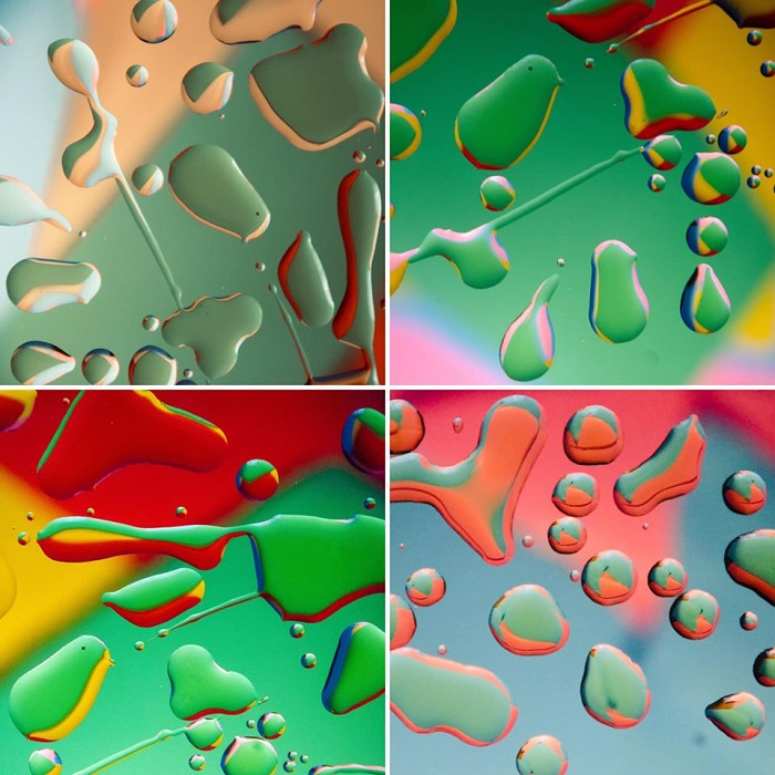 Abstract oil and water photography by Norman Beecher