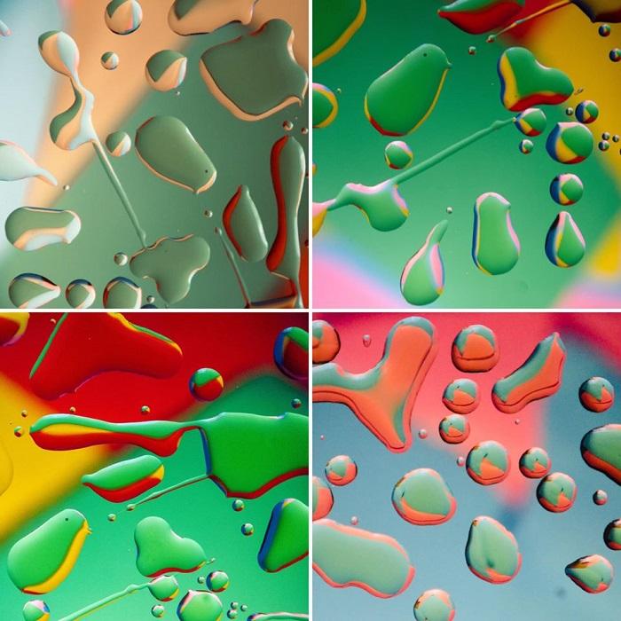 Fotografía abstracta de agua y aceite de Norman Beecher