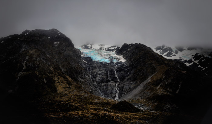 Stunning mountainous landscape photo on an overcast cloudy day. Best camera for landscape photography.