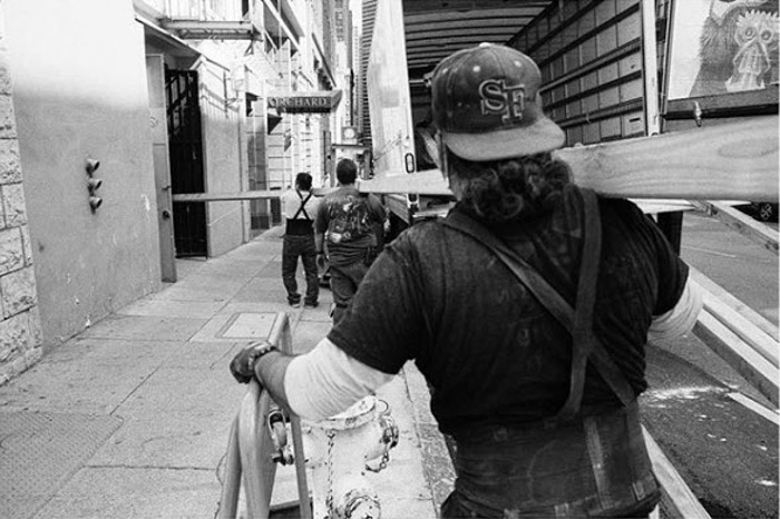 Black and white street photography by Dustin Vaughn-Luma. Famous photographers to follow.