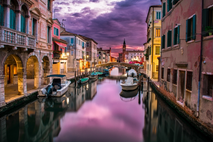 HDR image of Venice canals