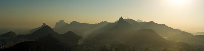 A beautiful misty mountain top landscape. Landscape photography composition