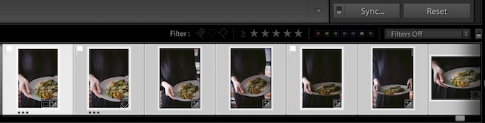 Adobe Lightroom sync interface. How to Use Lightroom for Editing Food Photography