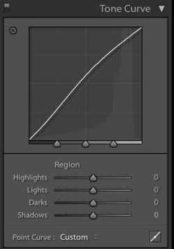 Lightroom for food photography region curve