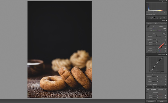Using Lightroom for Food Photography Editing.