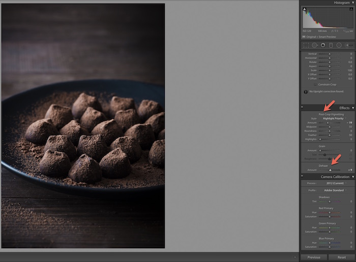 Effects on Adobe Lightroom. How to Use Lightroom for Editing Food Photography