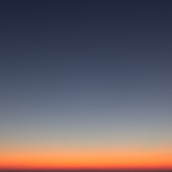 Minimalist photography of a beautifully coloured sunset sky
