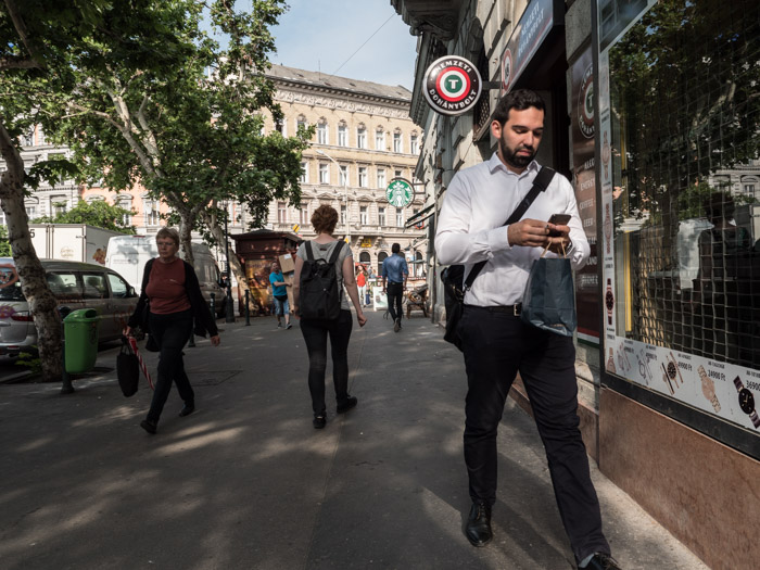 Street photography scene in Budapest, taken with a Panasonic gh5 by Craig Hull