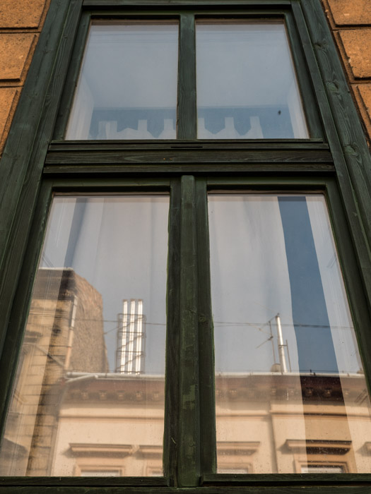 Street photography of the exterior of a window in Budapest, taken with a Panasonic gh5 by Craig Hull