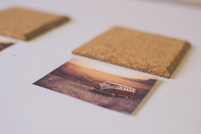 A photograph of a van beside a wooden coaster. Creative photography ideas.
