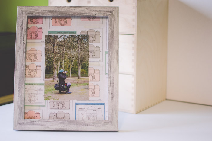 A photograph in a frame with creative border.