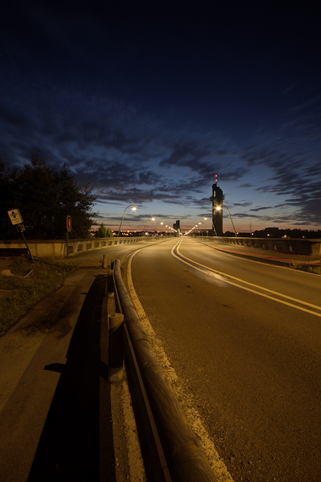 Night photography of an empty highway. What is HDR photography?