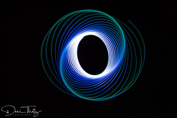 Spiral Light Painting by Desirea Tritz
