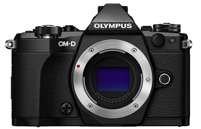 Olympus OM-D E-M5 Mark II on white background