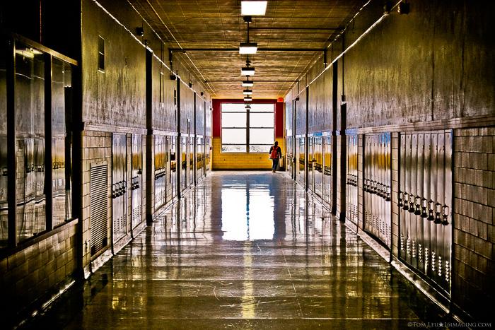 A colourful school corridor - freelance photography shot