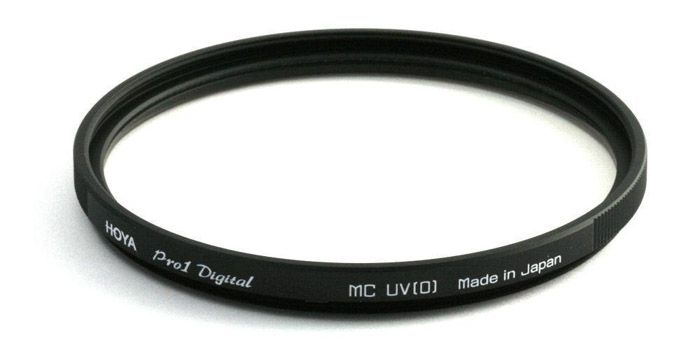 A Hoya 58mm UV Glass Filter - great gifts for photographers who travel