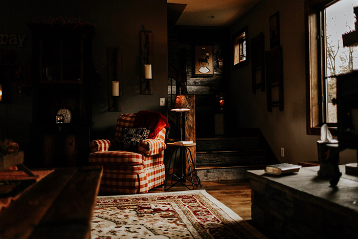 Photo of a rustic style interior of someones living room