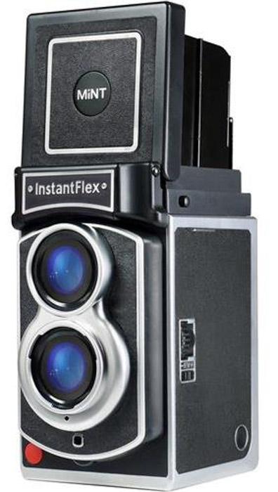 A InstantFlex camera on white background - best instant camera