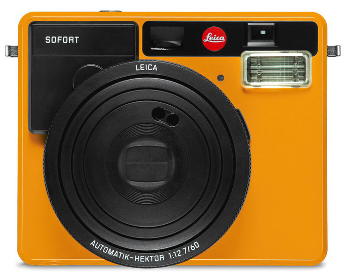 A Leica Sofort camera on white background